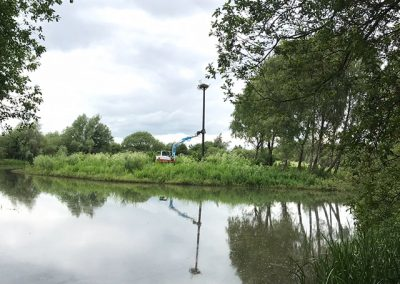 Pennington Flash, Wigan – Osprey Nest and Pole